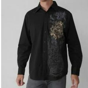Eighty Eight Men's Graphic Print Tonal button down